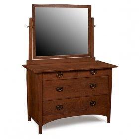 "Gustav Stickley Dresser, #911 48""w X 22""d X 66""h"