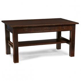 L & Jg Stickley From The Onondaga Shops Library Table,