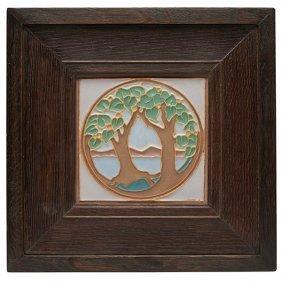 "Wheatley Pottery Company Tree Of Life Tile Image: 6""sq;"