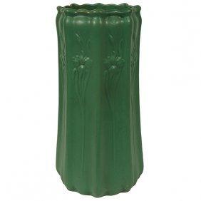 "Roseville Pottery Co. Chloron Umbrella Stand 12""dia X"