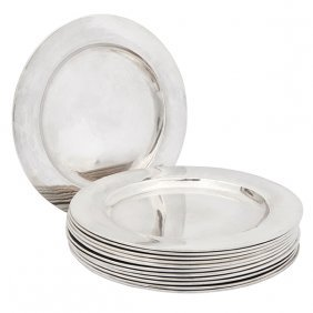 "The Kalo Shop Bread Plates, #bb1l, Set Of Twelve 6""dia"