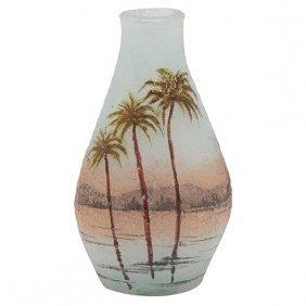 """Daum Nil Miniature Vase 1""""dia X 2""""h"""