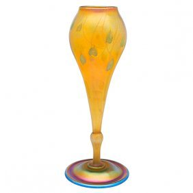 Louis Comfort Tiffany (1848-1933) Leaf And Vine Vase,