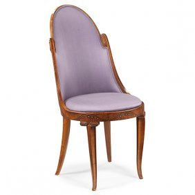 Style Of Edward Colonna (1862-1948) Barrel Back Chair