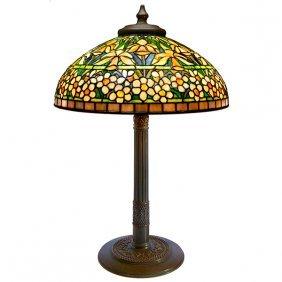 Tiffany Studios Daffodil Table Lamp, Base #529, Shade