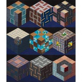 Rebecca Shore, (american, B. 1956), Sister-nine Cubes,