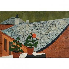 Davira Fisher, (american, 1918-1986), Spanish Roofs,