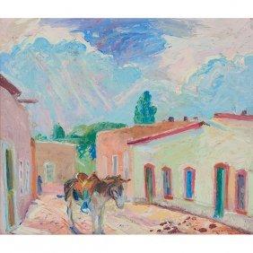 Albert Krehbiel, (american, 1873-1945), Village Street