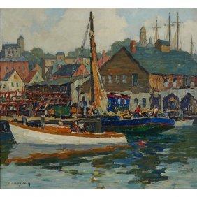 J. Jeffrey Grant, (american, 1883-1960), Harbor Scene,