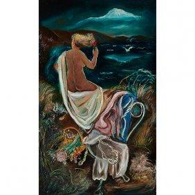 Joseph Vorst, (american, 1897-1947), Nude Woman And