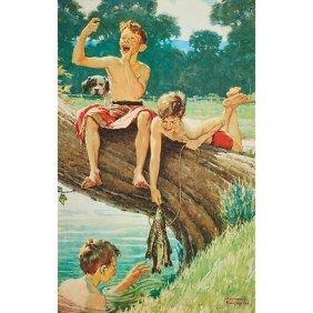Norman Rockwell, (american, 1894-1978), Three Boys