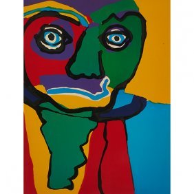 Karel Appel, (dutch, 1921-2006), Untitled, 1970, Color