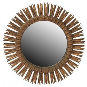 "French Starburst Wall Mirror 25.5""dia X 1.75""d"