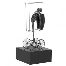 """Joseph A. Burlini (b. 1937) Untitled (sculpture) 12""""w X"""