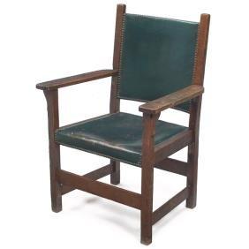 3: L & JG Stickley arm chair, similar to #838