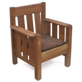 4: Cortland armchair, three vertical slats