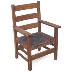 5: Gustav Stickley child's armchair, #344