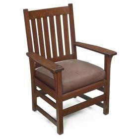 6: L & JG Stickley armchair, #816
