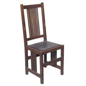 7: Gustav Stickley side chair, oak