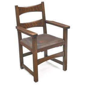 10: Limbert armchair, #8073