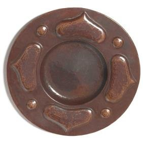 19: Arts & Crafts tray, hammered copper
