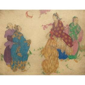 Elyse Lord Etching, Colorful Print