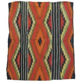 343: Navajo rug, stylized diamond pattern