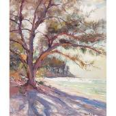 693: Robert Charles Gruppe, Island Shadows, oil