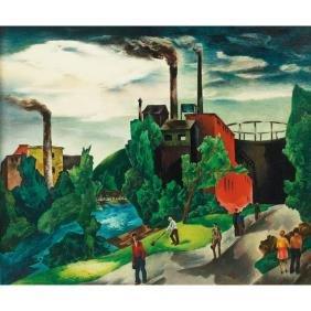 711: William S. Schwartz, oil