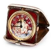 Erotic Threesome automated pocket travel clock