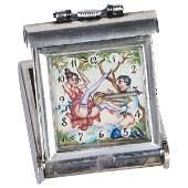 Erotic Tree Swing pocket travel clock