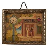 Concealed Erotic Hotel 69 automated picture clock
