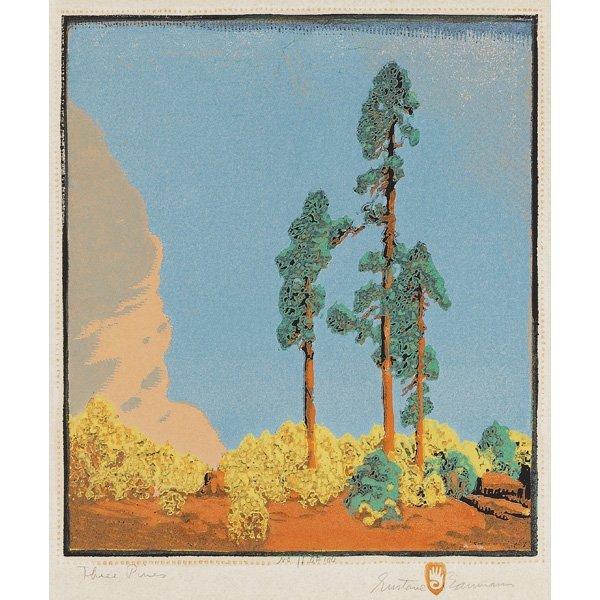 2: Gustave Baumann woodblock, colorful print