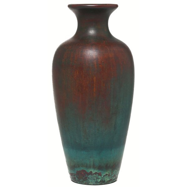 3: Clewell vase, copper-clad pottery