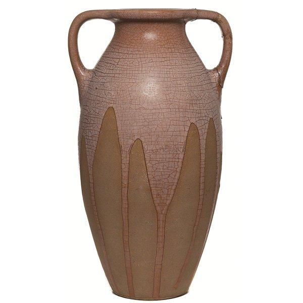 7: Rookwood floor vase, huge double handled form