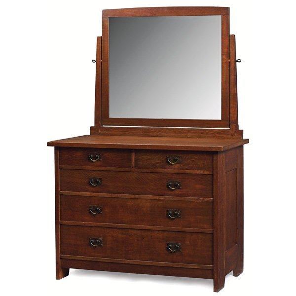 15: Gustav Stickley dresser with mirror, #905