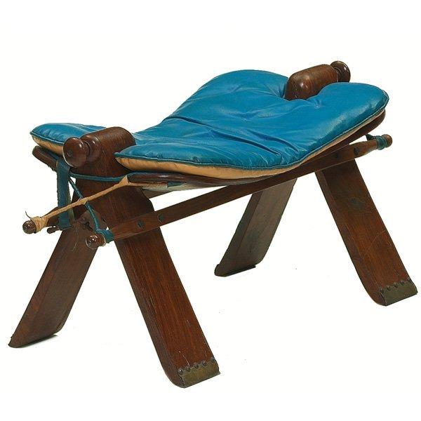 166: Arts & Crafts style Kashmir Camel stool