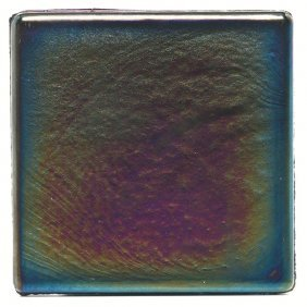 L.C. Tiffany Tile, Blue Favrile Glas