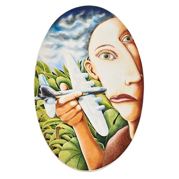 Kurt Weiser (American, b. 1950), Airplane Woman, china