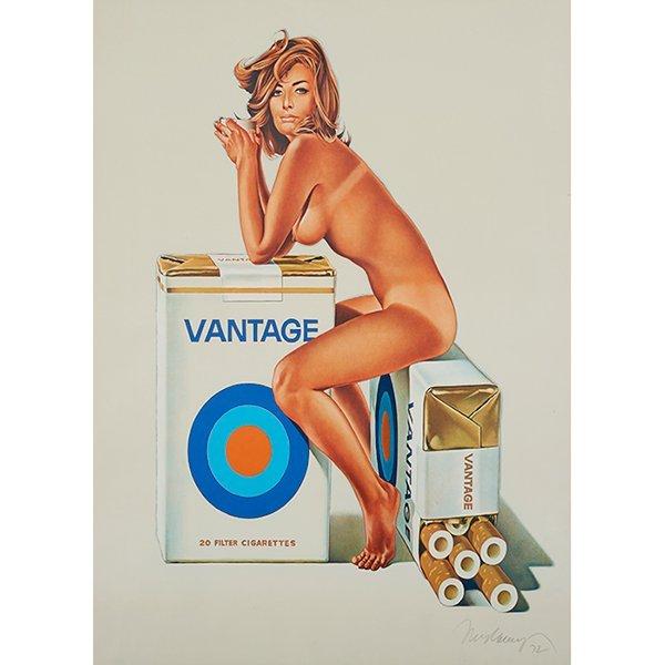Mel Ramos (American, b. 1935), Vantage Cigarette, 1972,