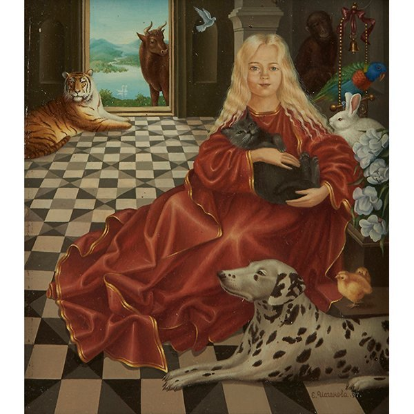 Eugenia Ioganov (20th century), Elizabeth, oil on