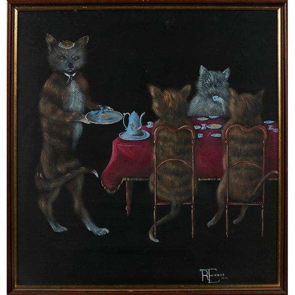 Evans, Animals Playing Cards and Drinking Tea, 1974 (a
