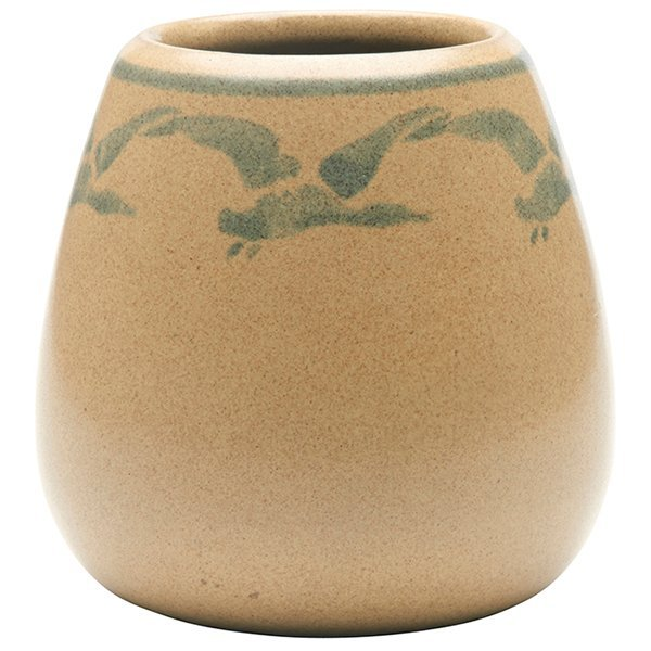Marblehead Pottery, Geese vase, Marblehead, MA, yellow