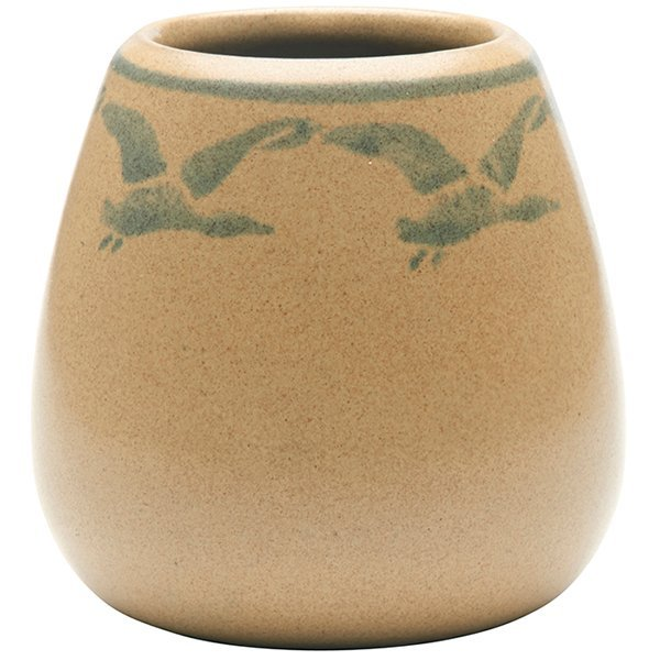 Marblehead Pottery, Geese vase, Marblehead, MA, yellow - 2