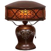 Heintz Art Metal Shop table lamp Buffalo NY bronze