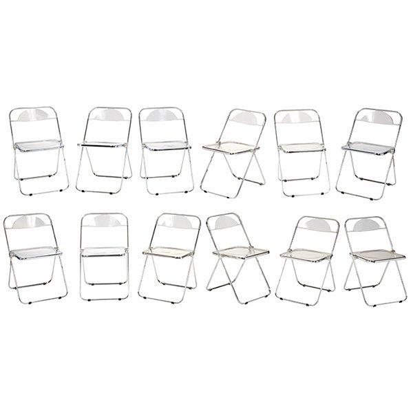 Giancarlo Piretti for Castelli Plia chairs set of 12