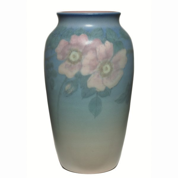 1508: Rookwood vase, exquisite Vellum glaze, Ed Diers