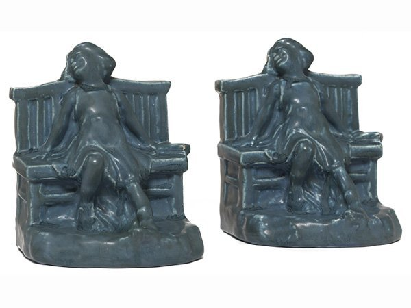 1509: Rookwood bookends, lot of two