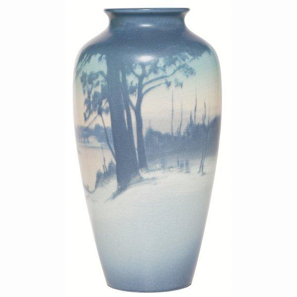 1516: Rookwood vase, Vellum glaze, Sallie Coyne