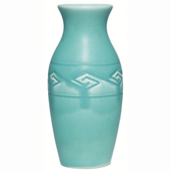 1517: Rookwood vase, swollen form, Arts & Crafts
